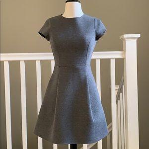 Susana Monaco Grey Scuba Flare Dress size 2